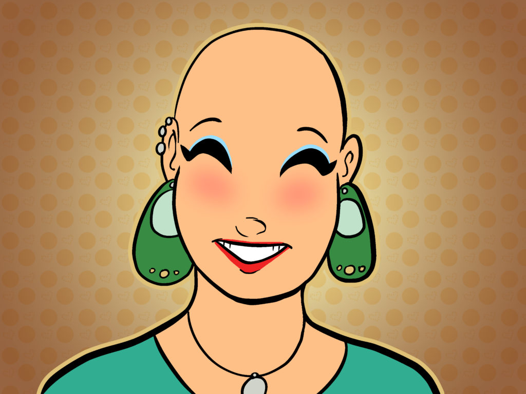 Продвижение группы ВК. Девушка без волос